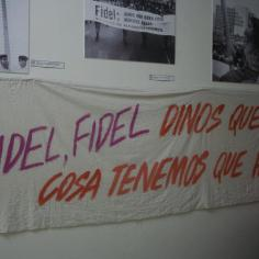 Fidel, tell us what else to do! Signs from marches after the Revolution.